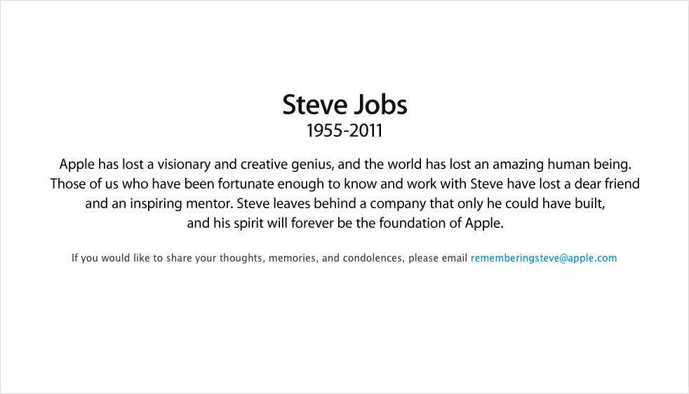 Good by Steve Jobs