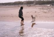 海にも行った。僕が大波をかぶせてしまい水が大嫌いになった。