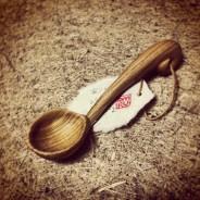 眞流さんがくれた、手作りの木の匙。幸せすくう手彫りの匙。