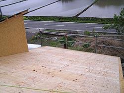 西側の屋根